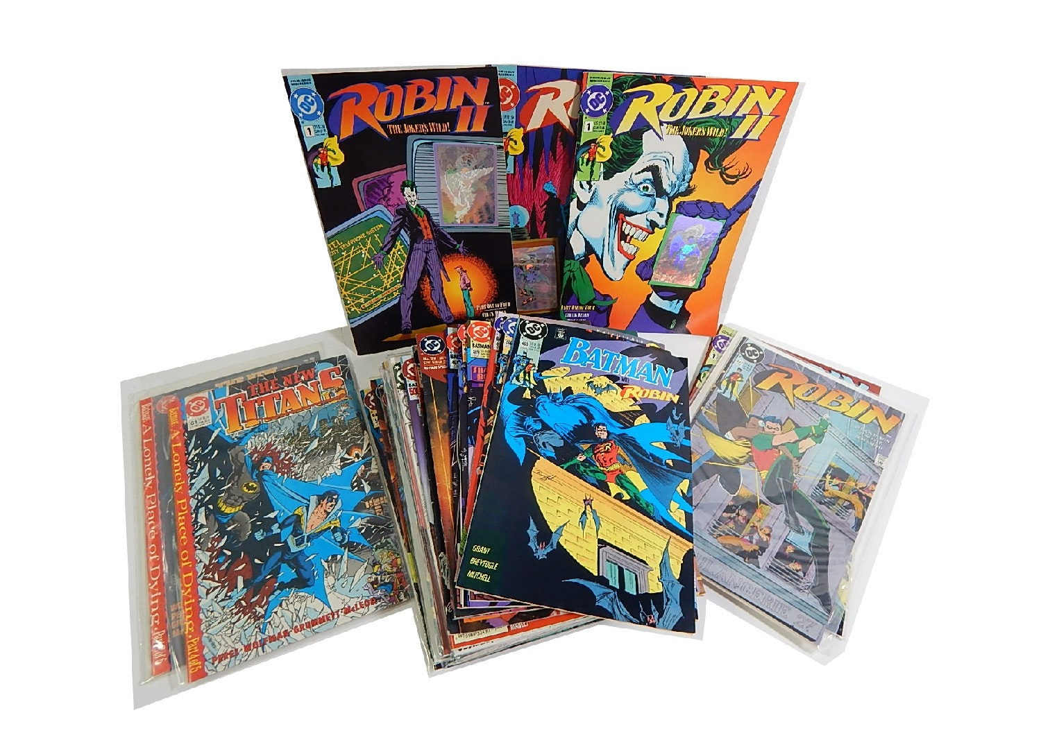 "1980s and 1990s DC Comic Books with ""Batman"" and ""Robin"""