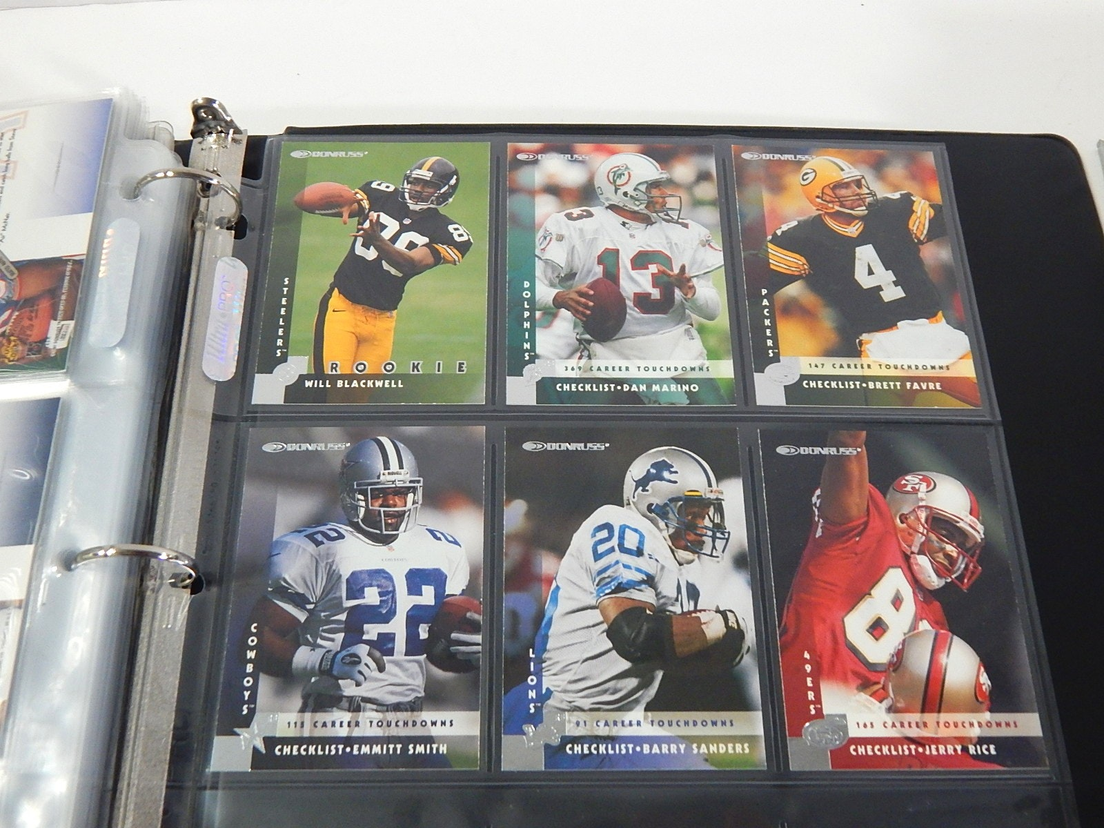 Two Football Card Albums - Over 400 Card Count