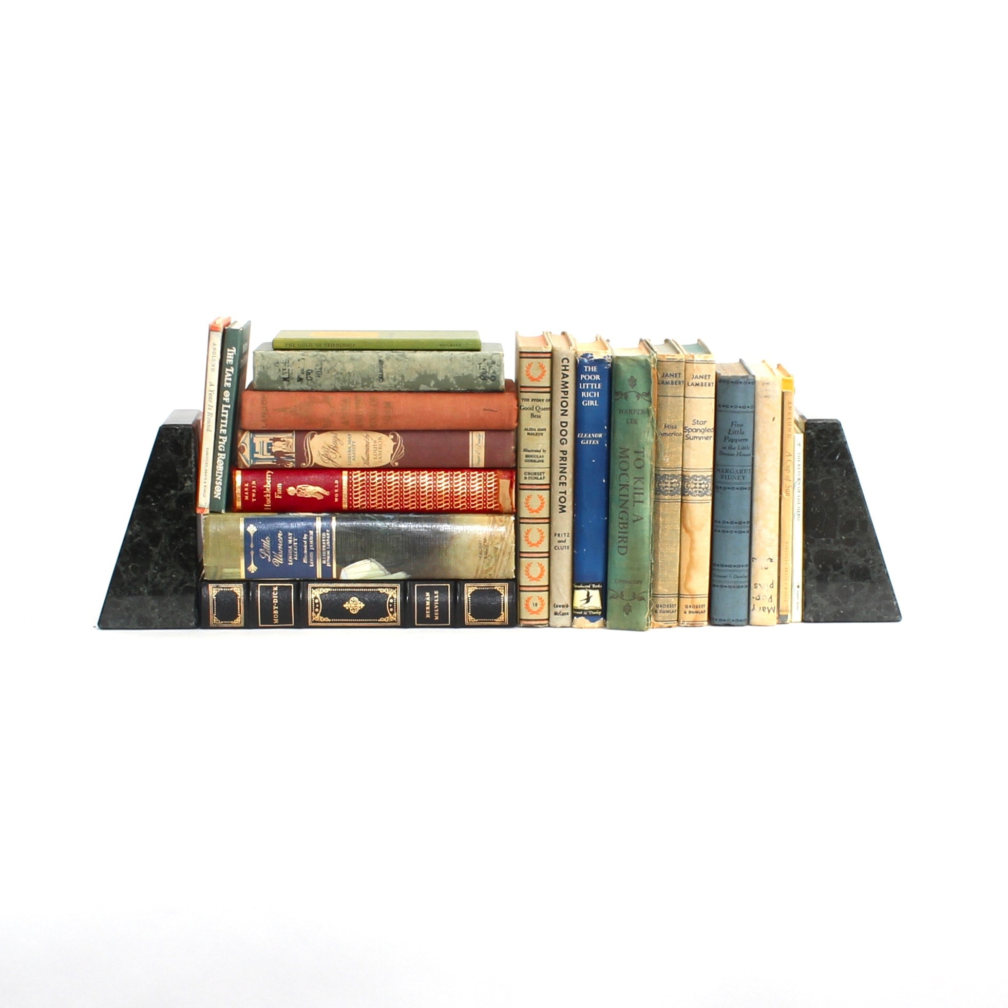 """Vintage Children's Books Including """"Mary Poppins"""" and Marble Bookends"""