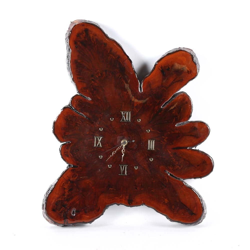 Vintage Wood Slab Wall Clock