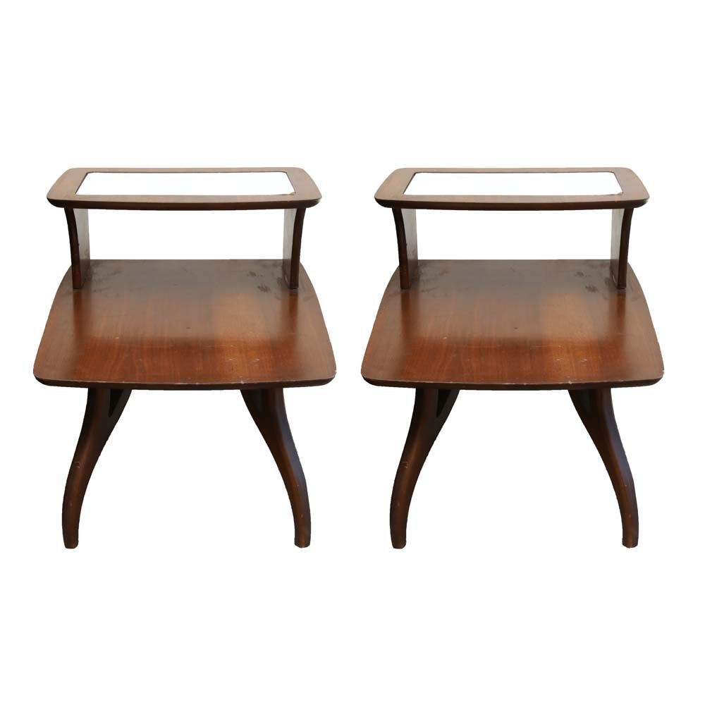 Mid Century Modern Tiered End Tables
