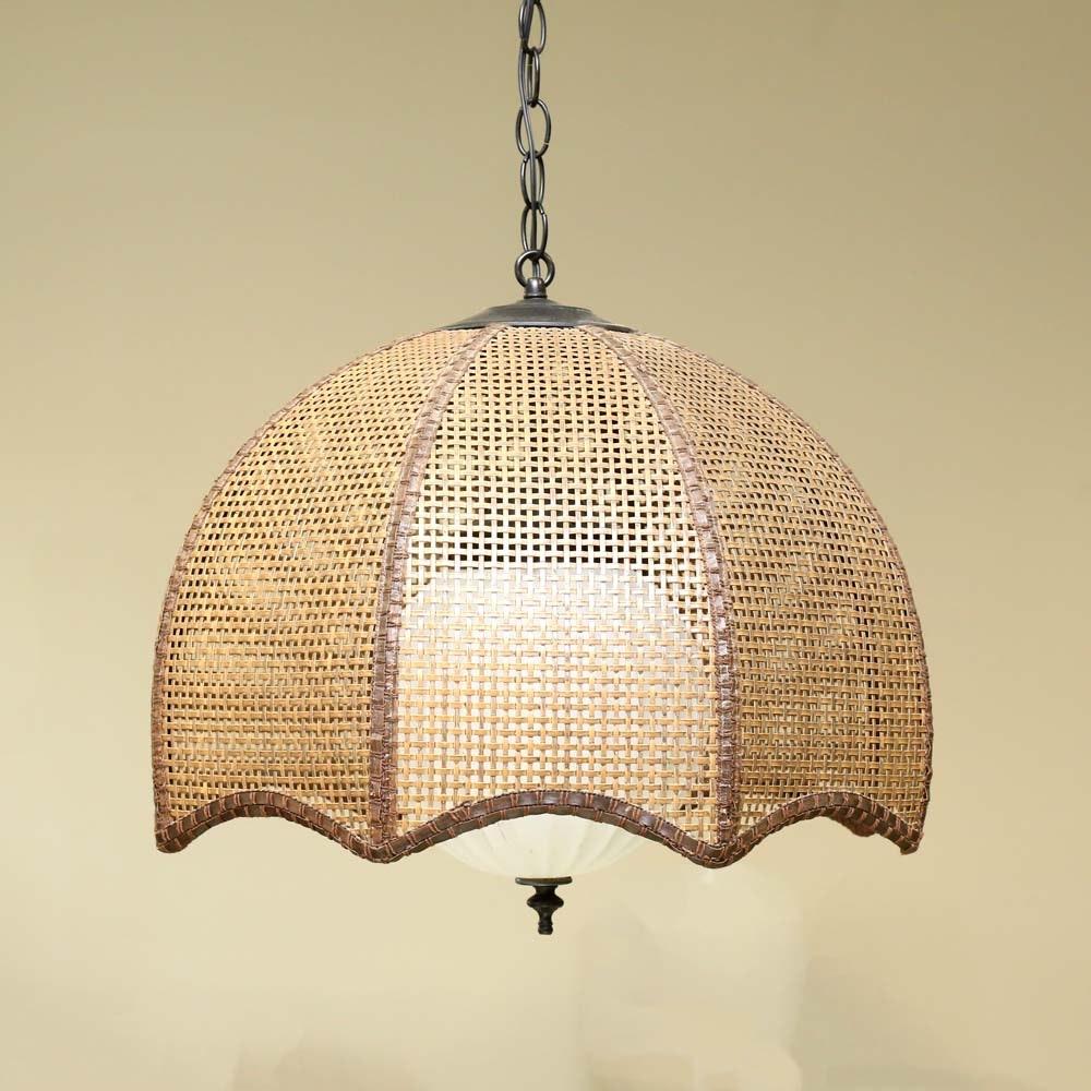 Vintage Woven Pendant Lamp