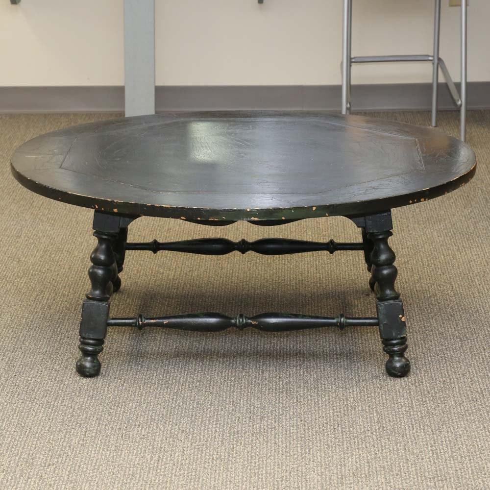 Farmhouse Style Round Coffee Table
