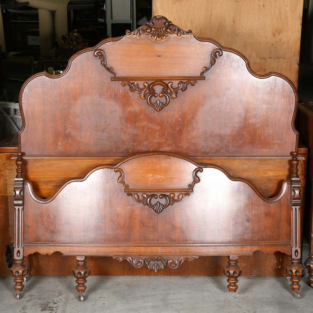 Vintage French Deco Style Full Sized Bed Frame