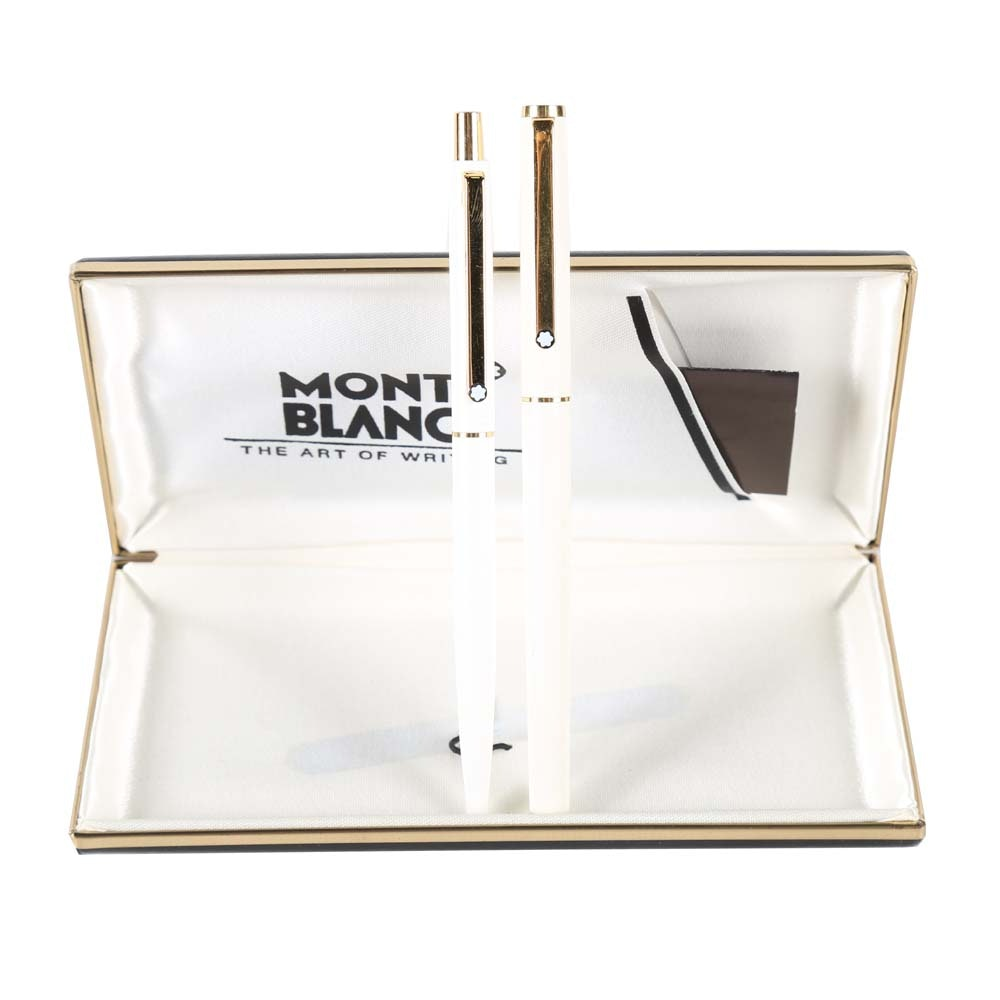 "Mont Blanc Noblesse ""Linea Bianca"" Fountain and Ballpoint Pen"