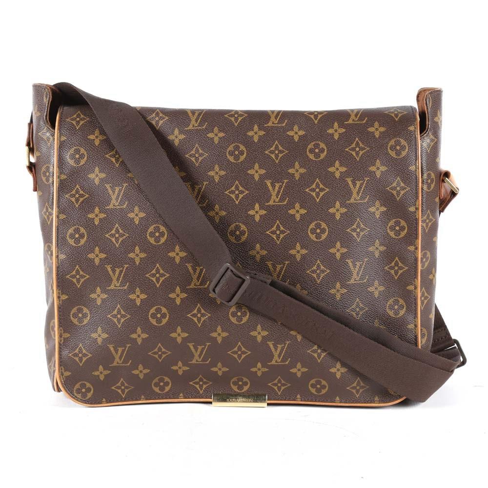 """Louis Vuitton of Paris """"Abbesses"""" Messenger Bag"""