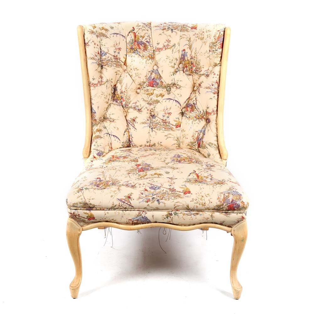 Vintage Upholstered Side Chair