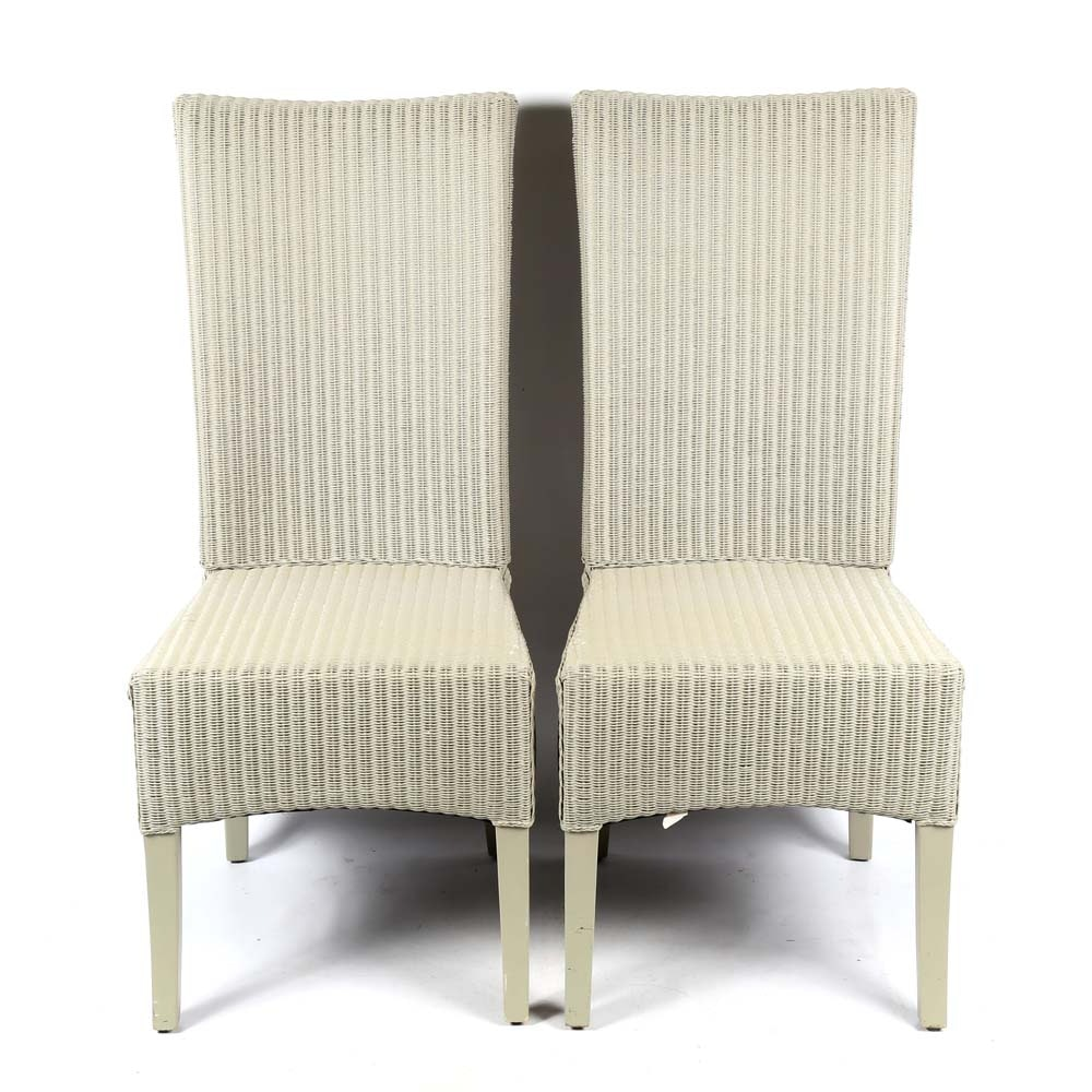 Rattan Side Chairs by Bassett Furniture