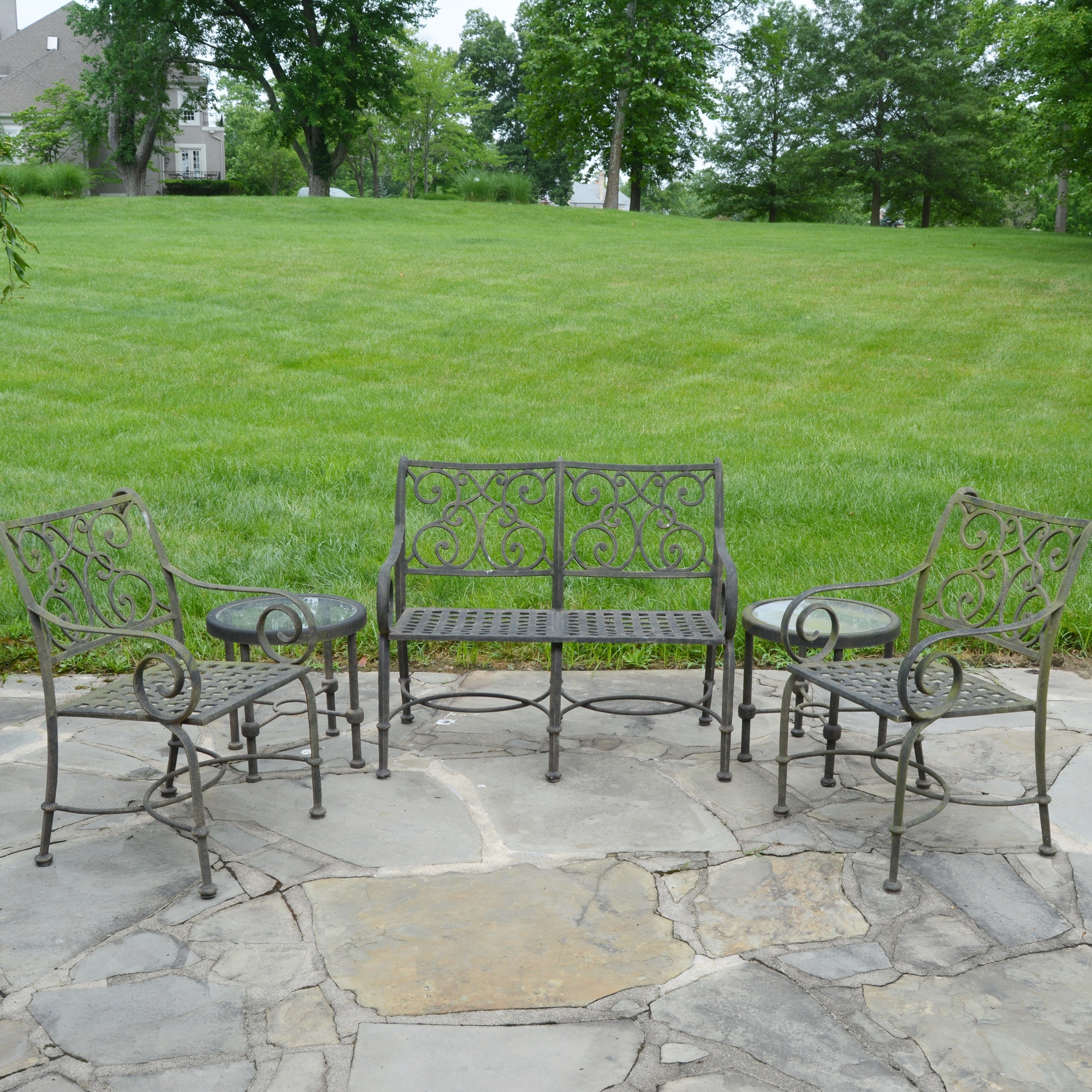 Cast Classics, Inc. Cast Aluminum Patio Bench, Chairs And Tables ...