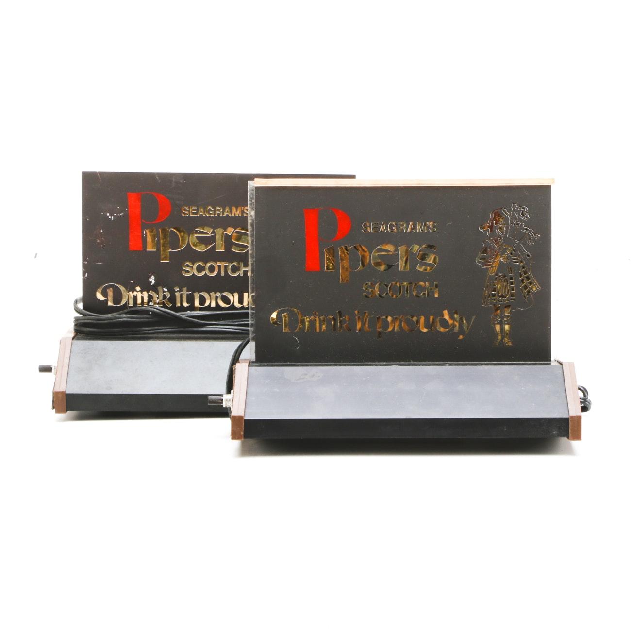 Seagram's Piper's Scotch Cash Register Lights
