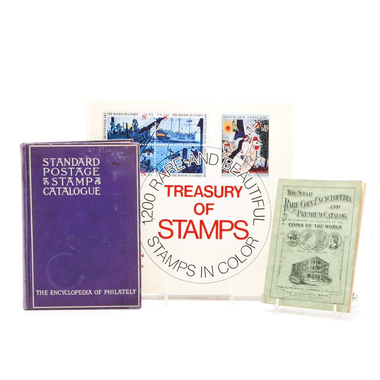 Trio of Vintage Stamp And Coin Collecting Books