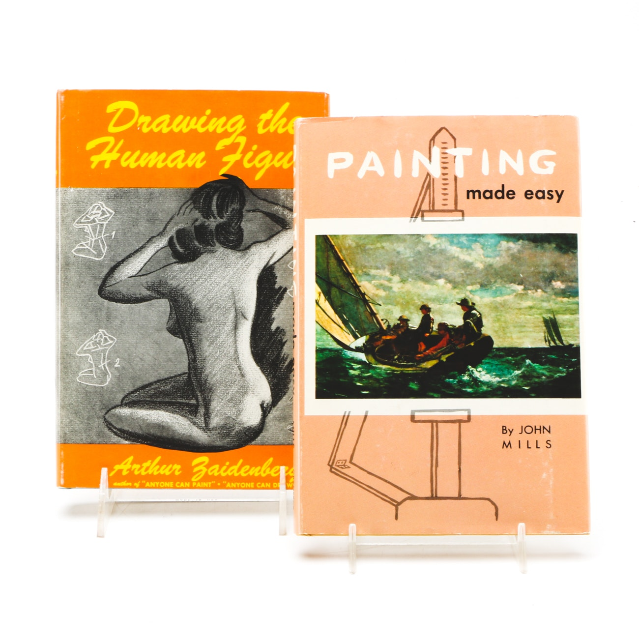 Pair of Vintage Books on Drawing and Painting Techniques