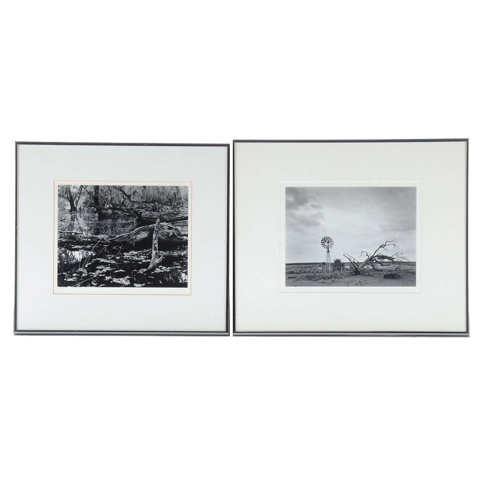 Two Jim Allen Signed Black and White Photographs