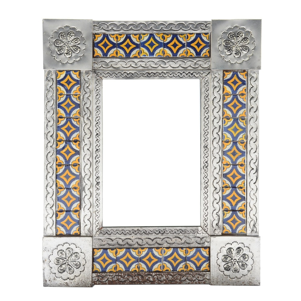 Wall Mirror with Tile Frame
