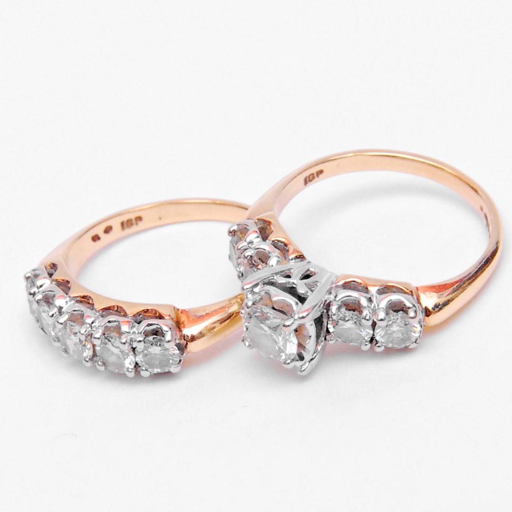 14K Yellow Gold 1.98 CTW Diamond Bridal Set