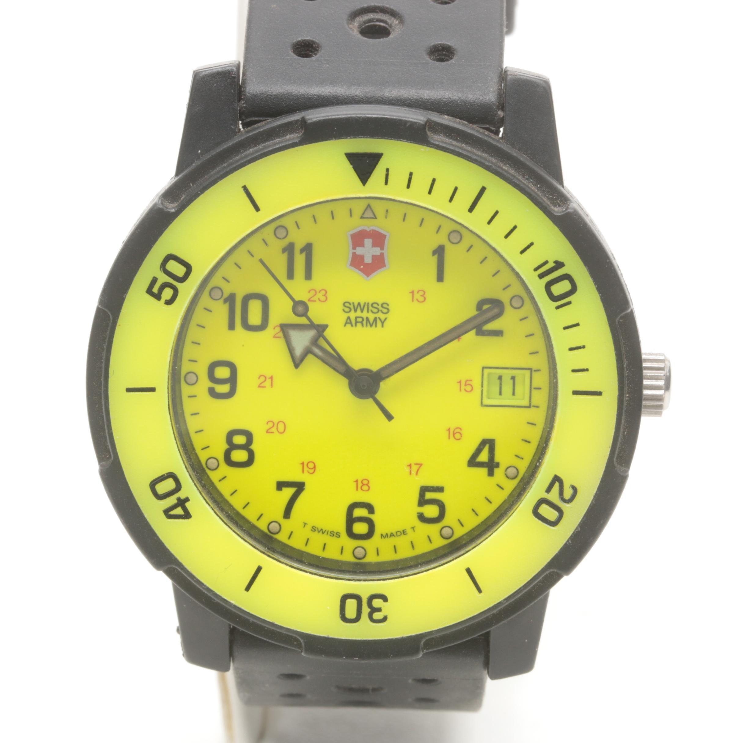 Swiss Army Wristwatch With Date Window