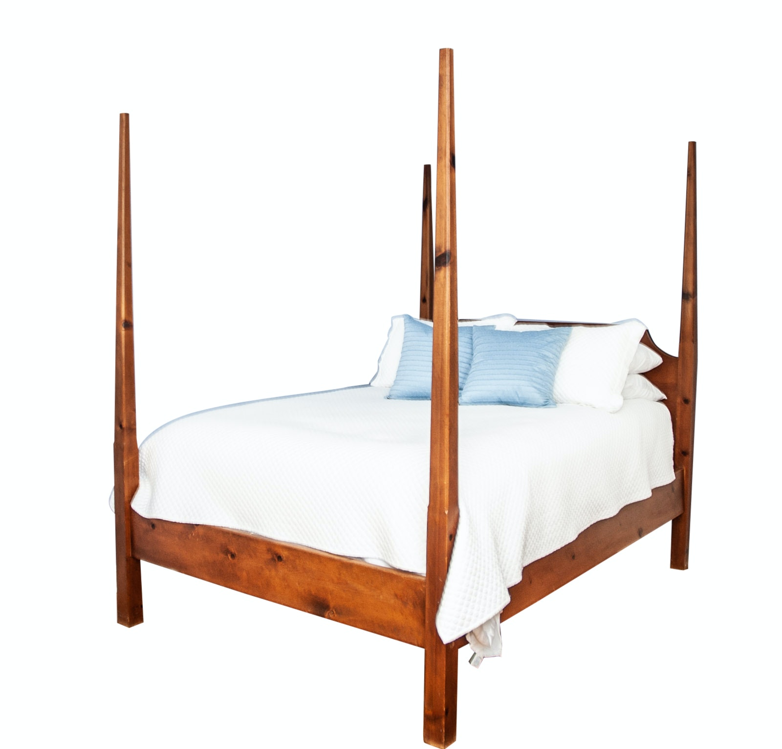 Pine Queen Size Four Poster Bed Frame
