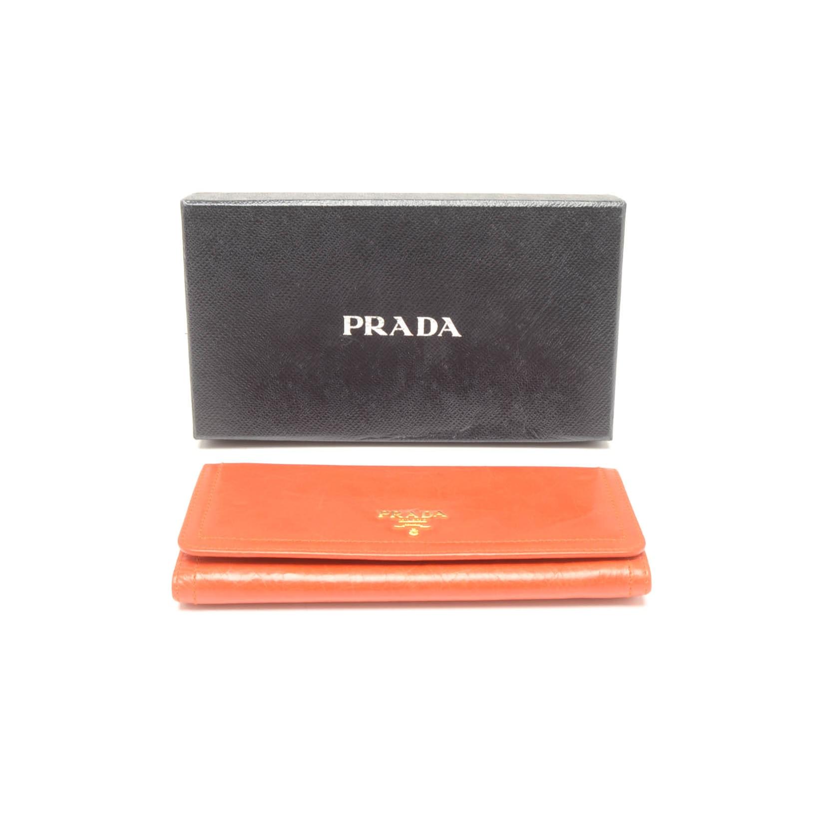 Prada Vitello Shine Leather Wallet
