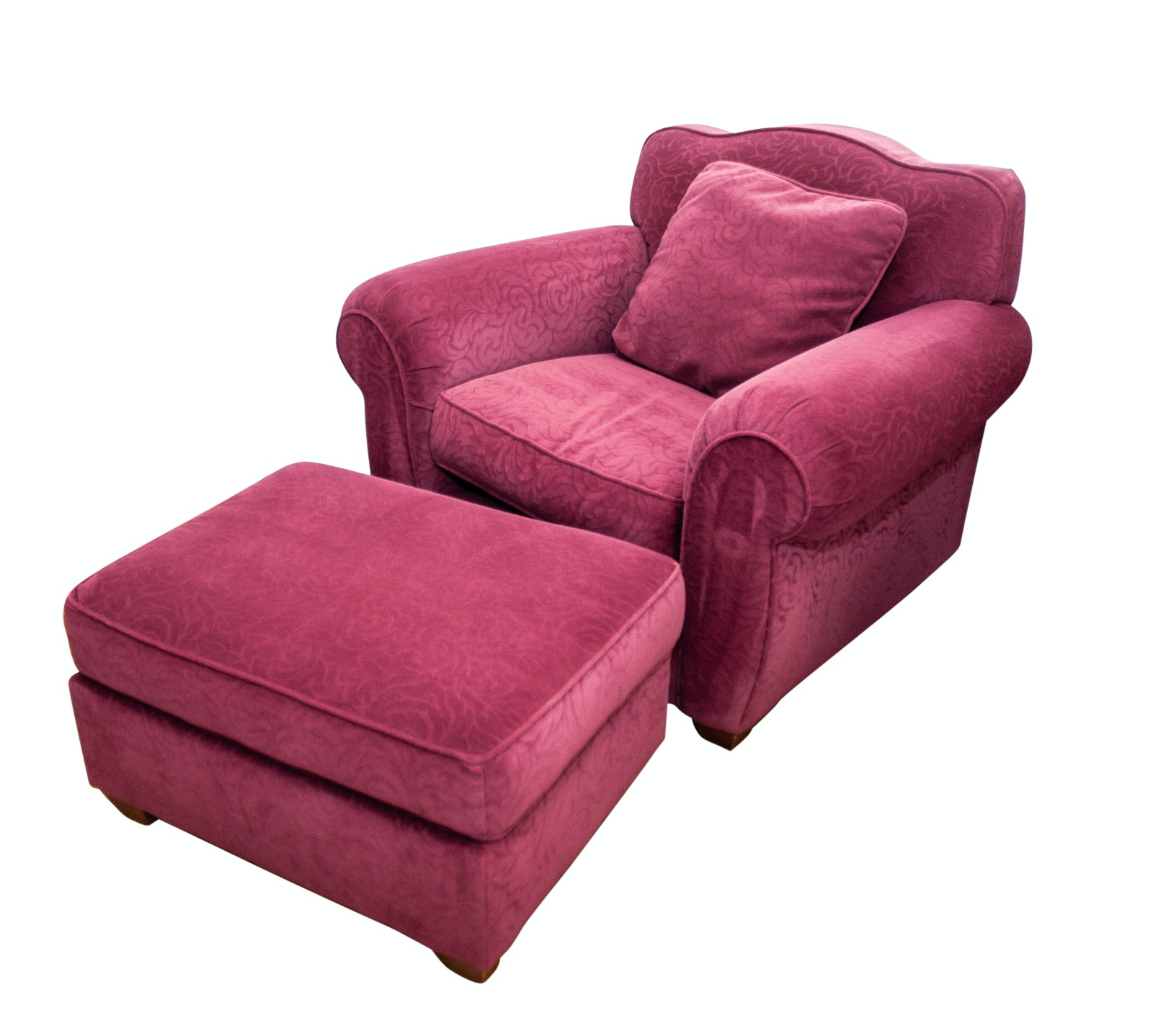 Macy's Bauhaus Red Chair and Ottoman