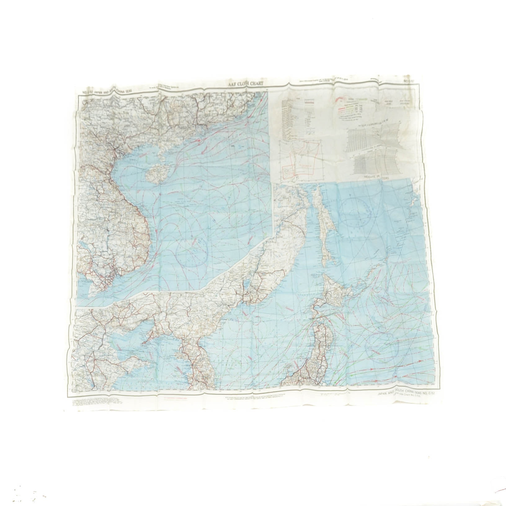 May 1945 Military Cloth Map of Japan