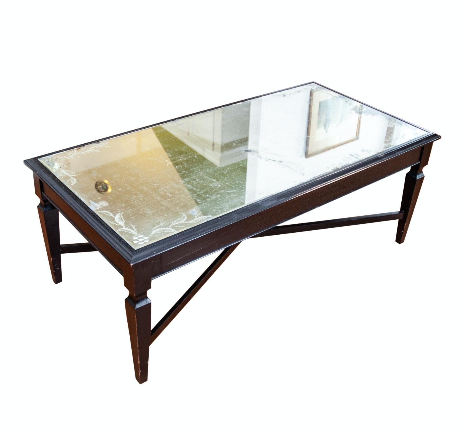 Arhaus Mirror Top Coffee Table