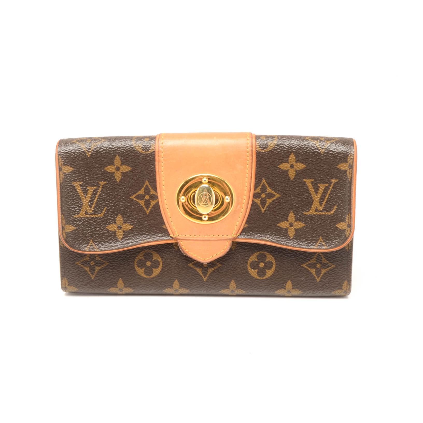 Louis Vuitton of Paris Boetie Monogram Canvas and Leather Wallet
