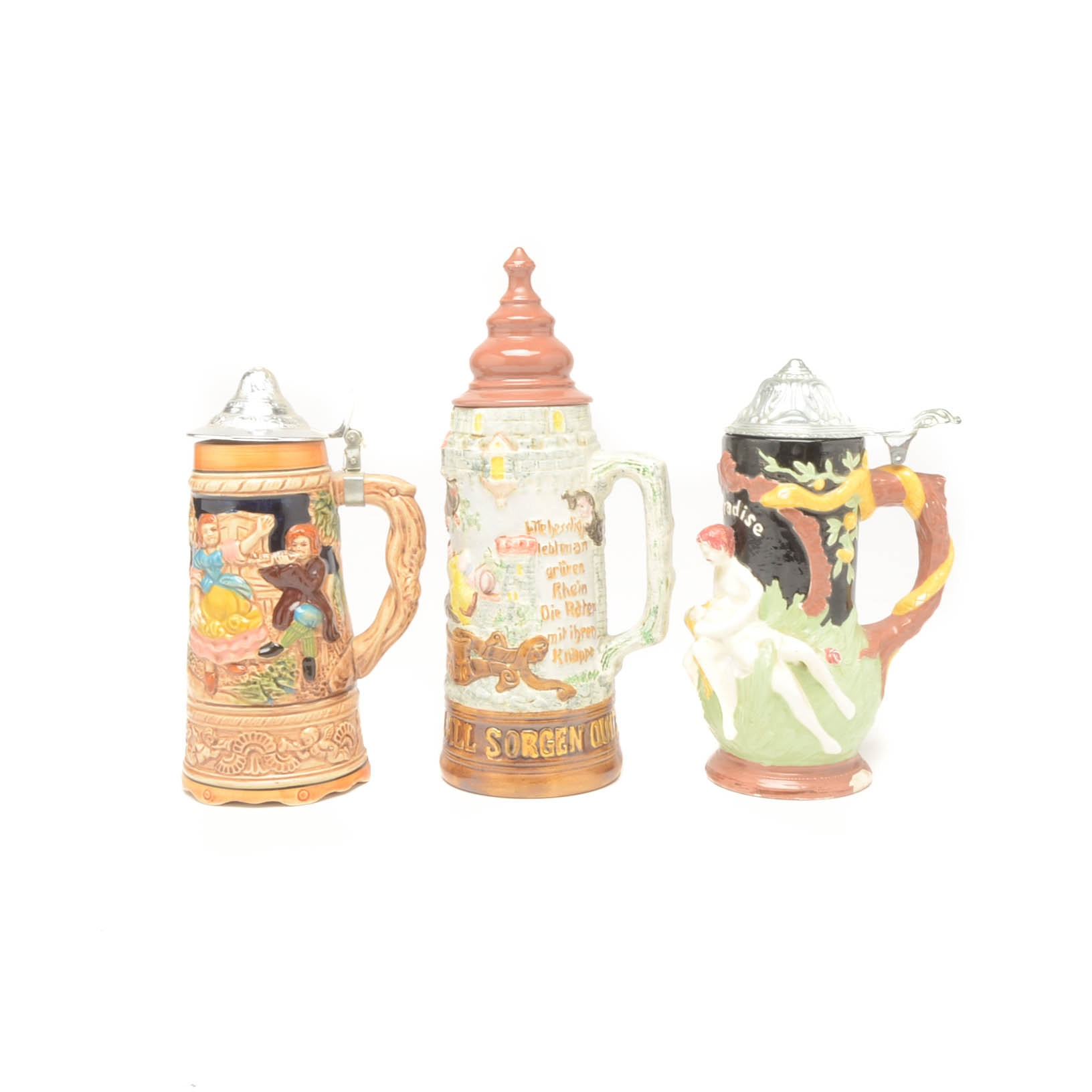 Collection of German Style Beer Steins