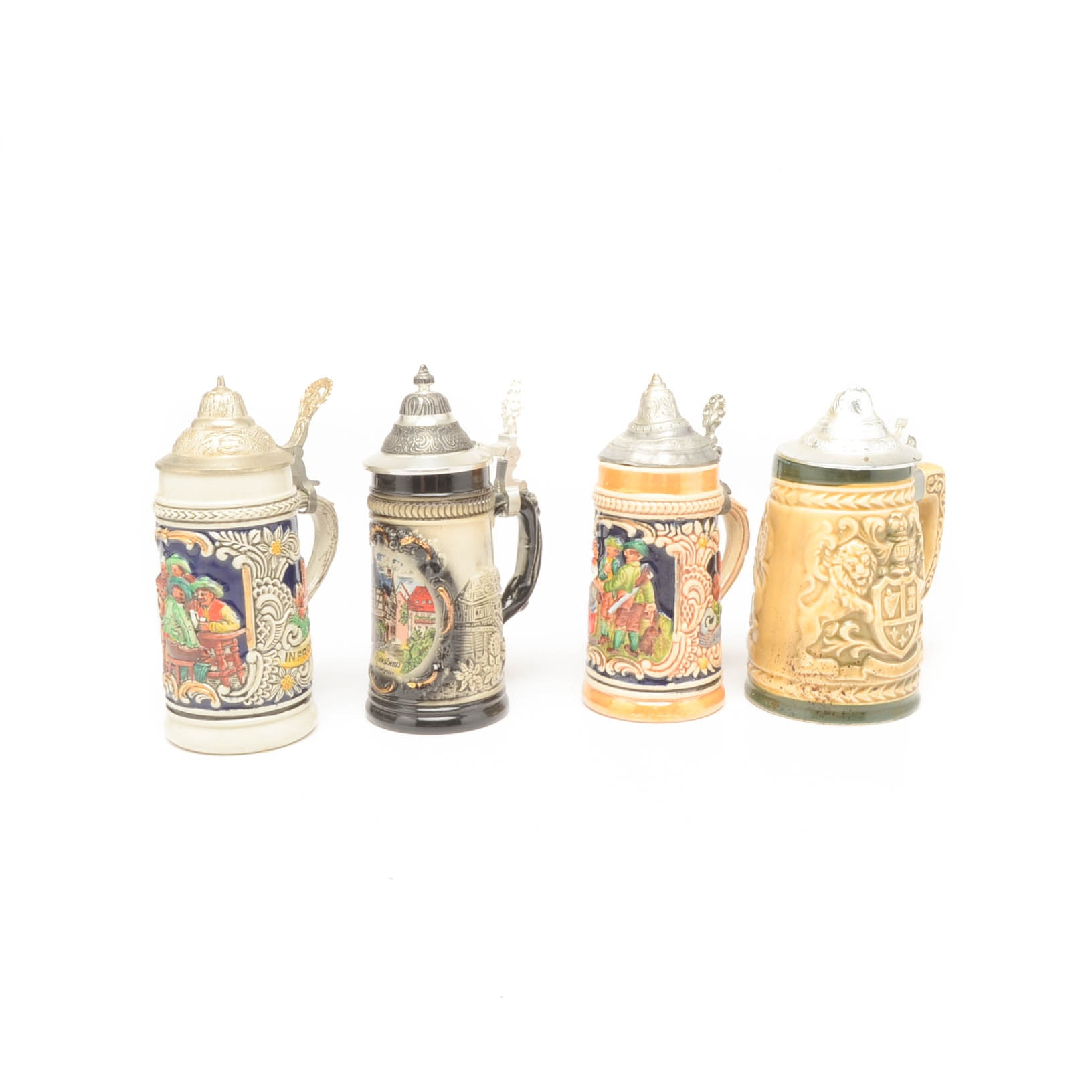 Lot of Four German Beer Steins