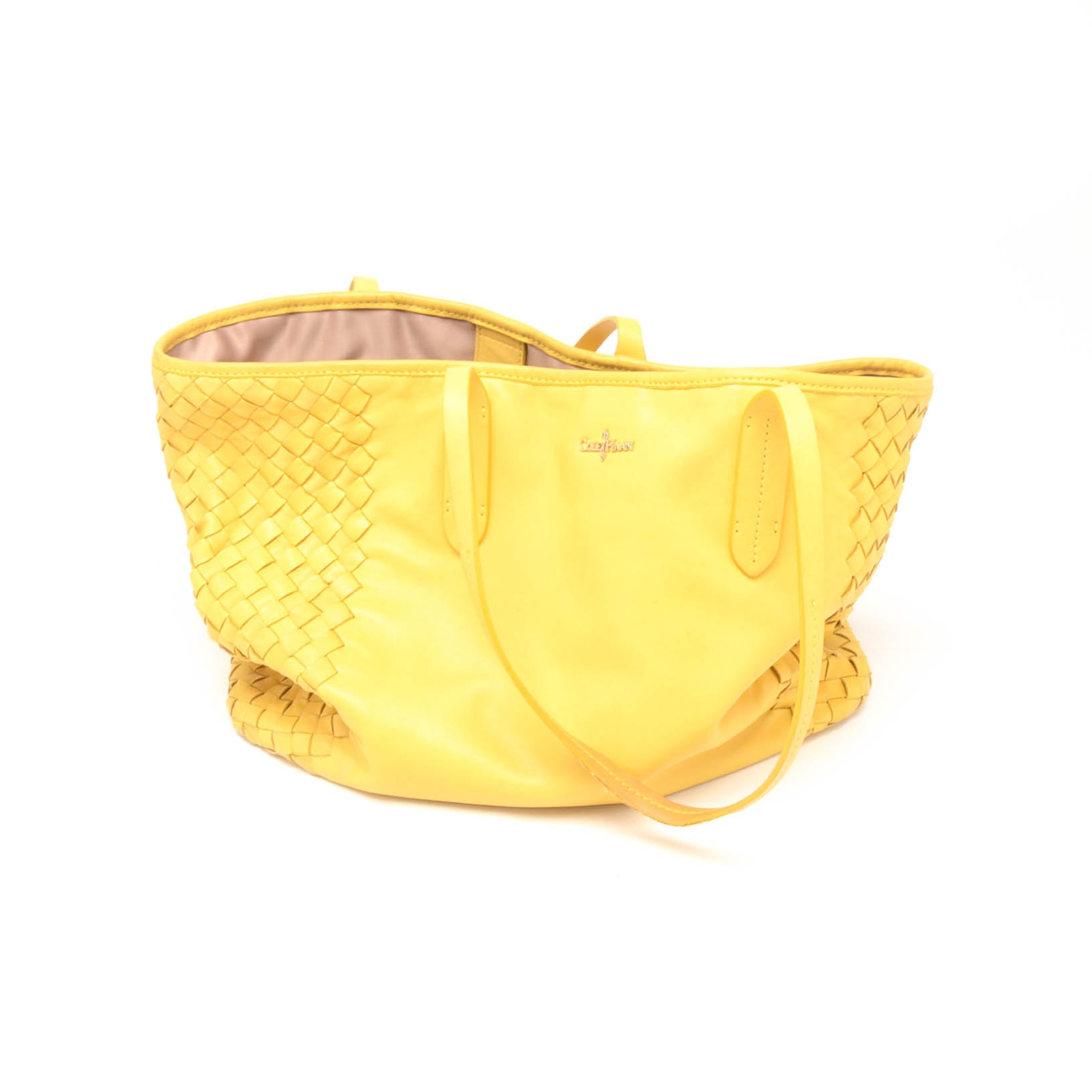 Cole Haan Woven Yellow Leather Tote