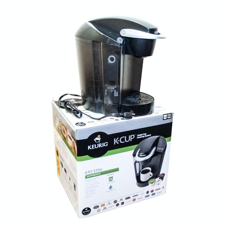 Keurig K45 Elite Single Cup Coffee Brewer Ebth