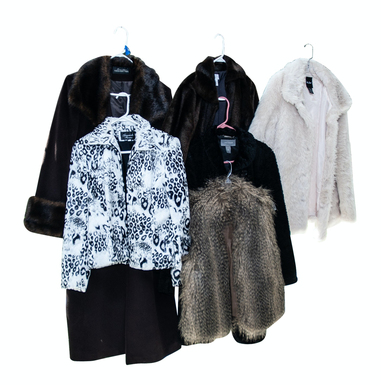 Faux Fur Coats Including Ann Taylor, Michael Kors, and Giancarlo Ferrari