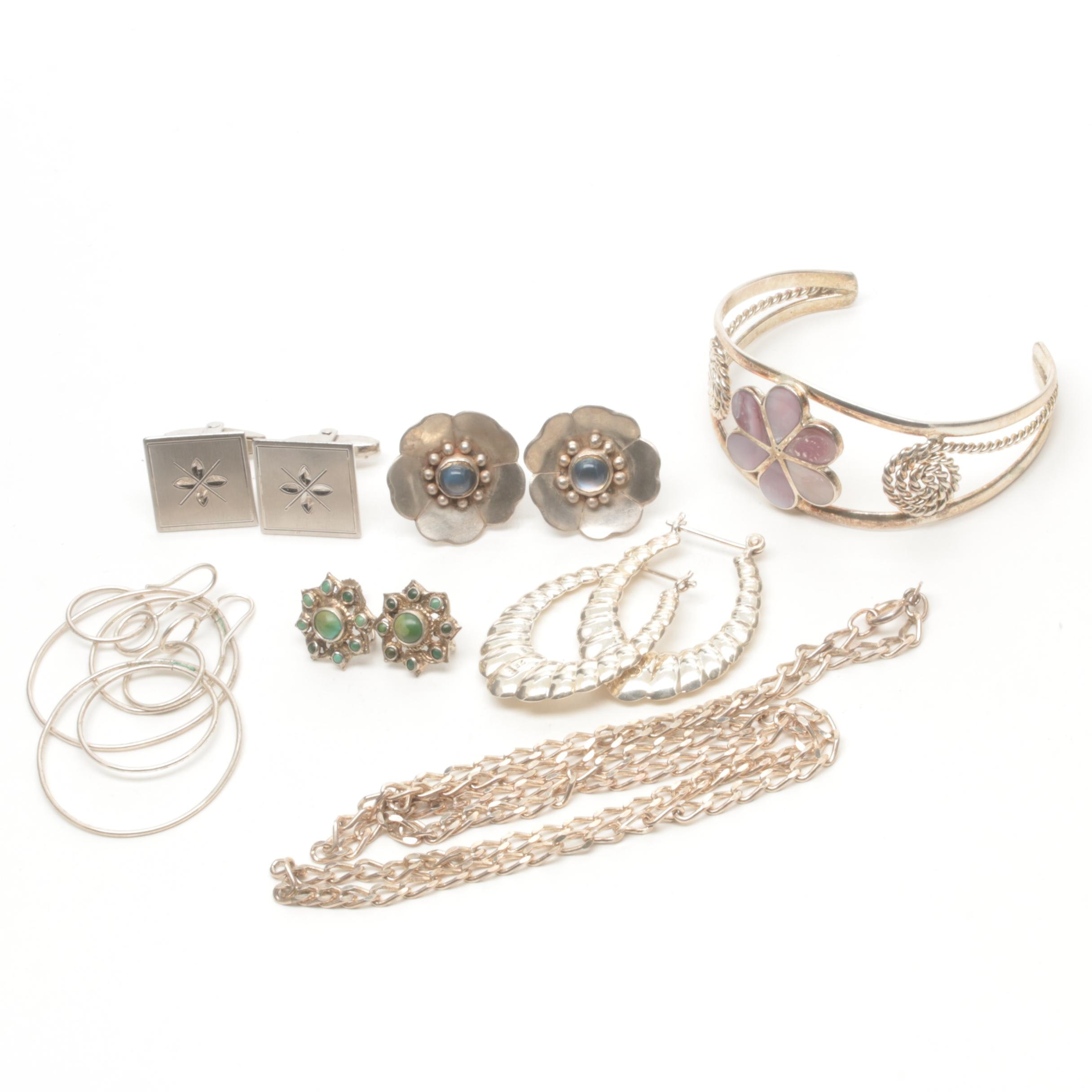 Assortment of Sterling Silver and Costume Jewelry