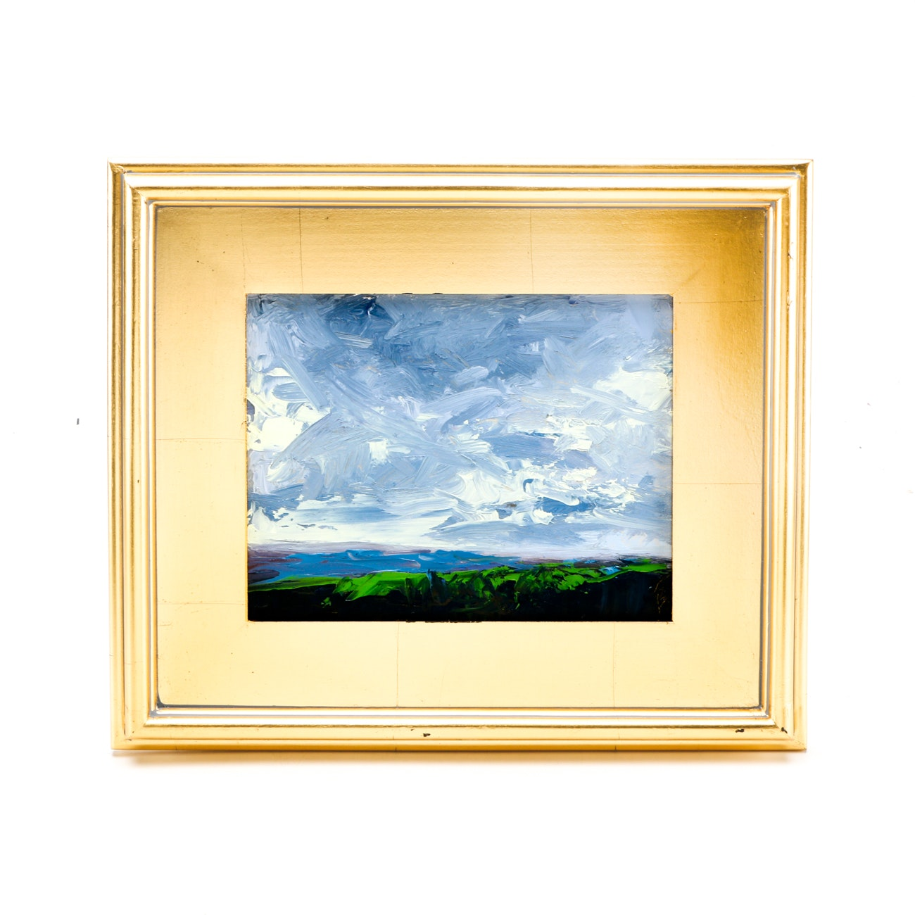 "Sarah Brown Original 2018 Oil Painting on Canvas Board ""View from Ault Park"""