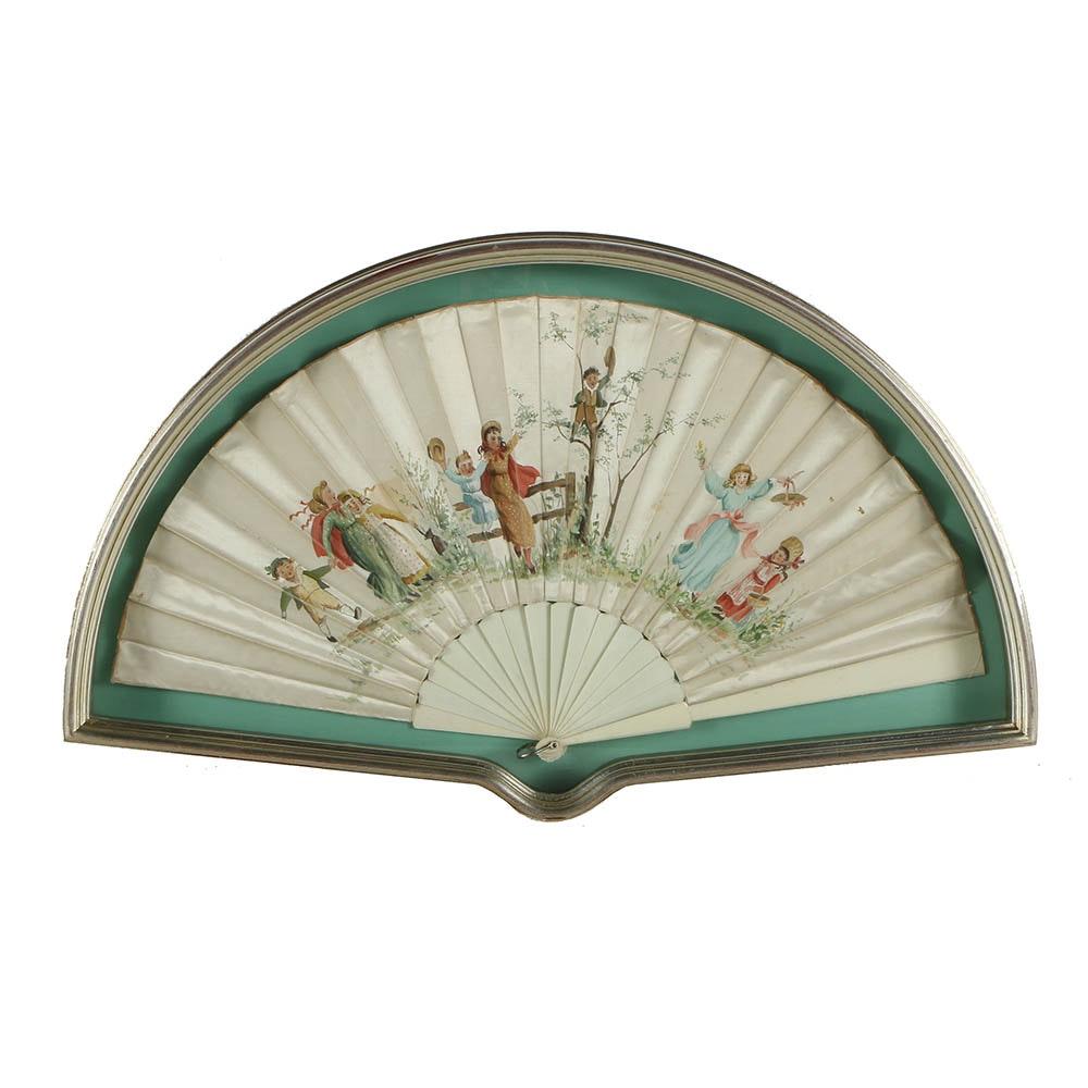 Hand-Painted Silk Fan
