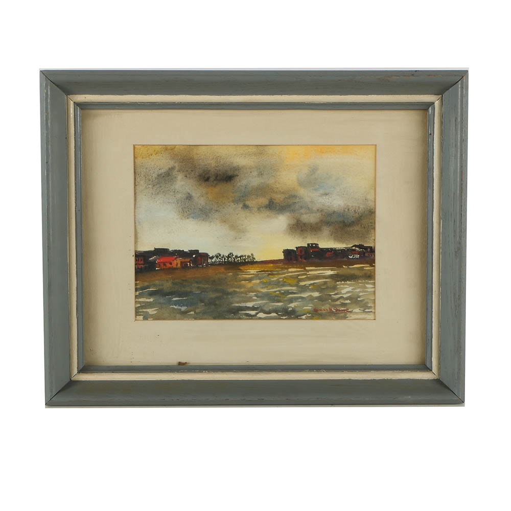Norman H. Doane Watercolor Painting