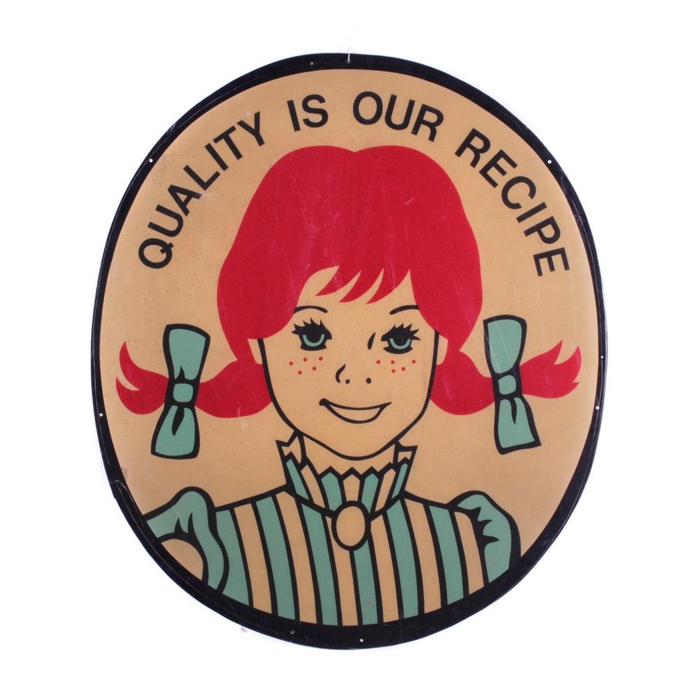 Vintage Wendy's Restaurant Sign