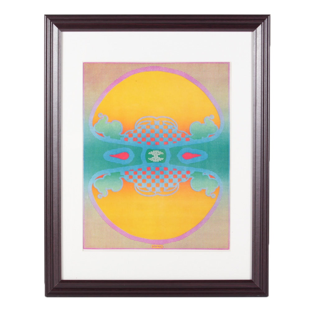 """1970 Peter Max """"1, 2, 3 Infinity"""" Offset Lithograph Poster"""