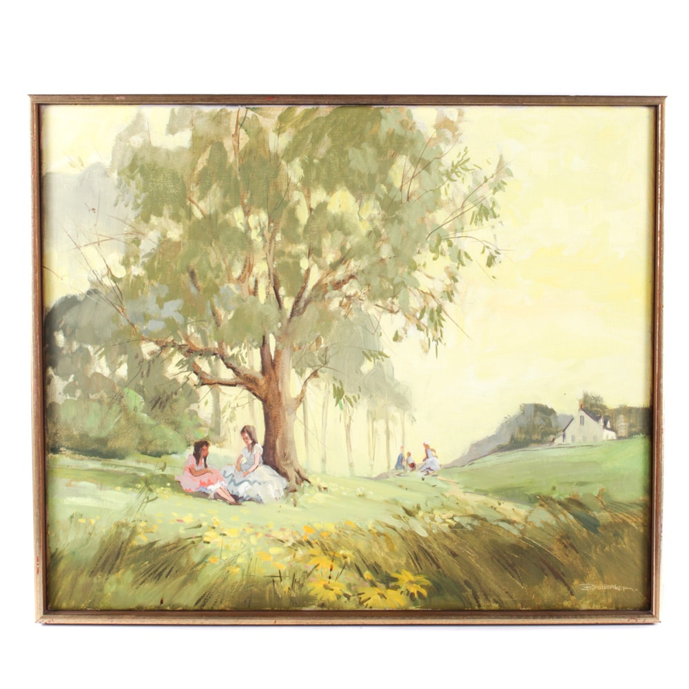 Robert Brubaker Original Oil Painting