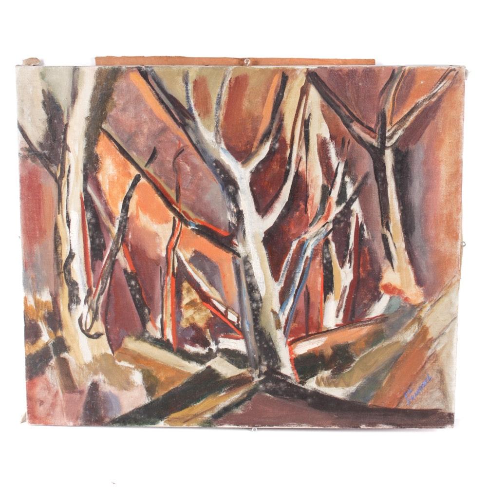 Edrie Leah Frandzel Original Oil Painting of Trees