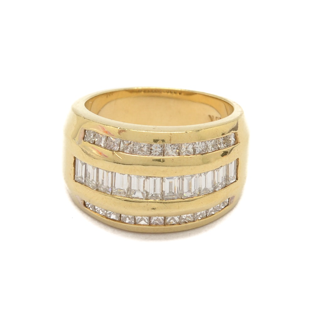 18K Yellow Gold 1.54 CTW Diamond Ring