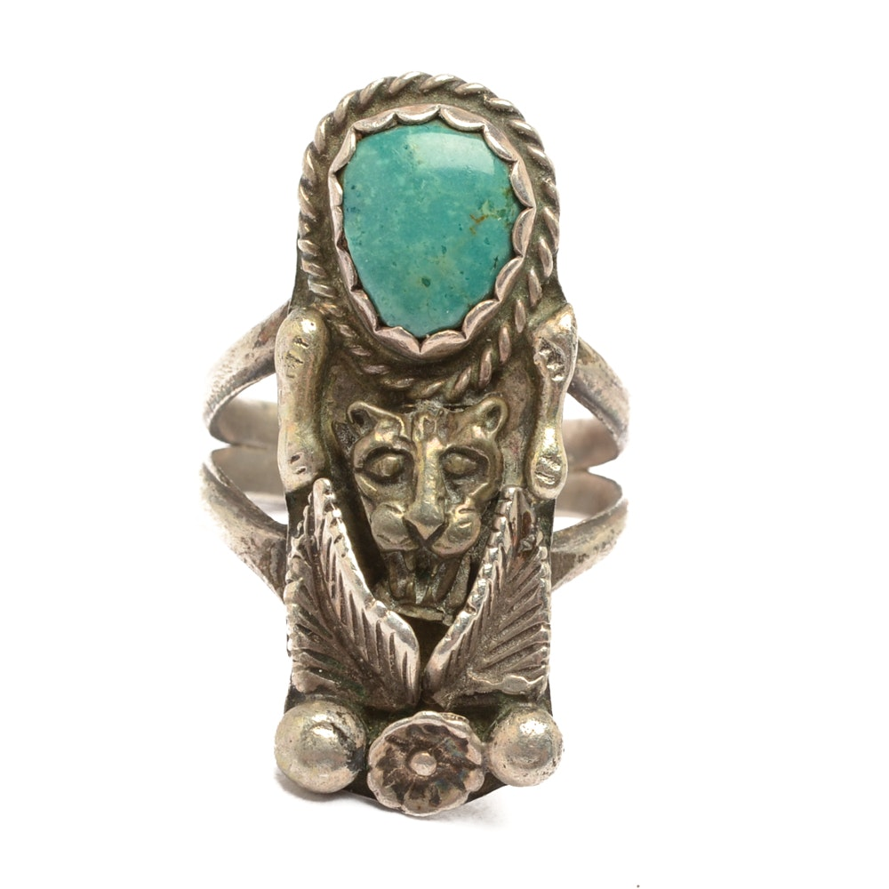 Sterling Silver Stabilized Turquoise Ring