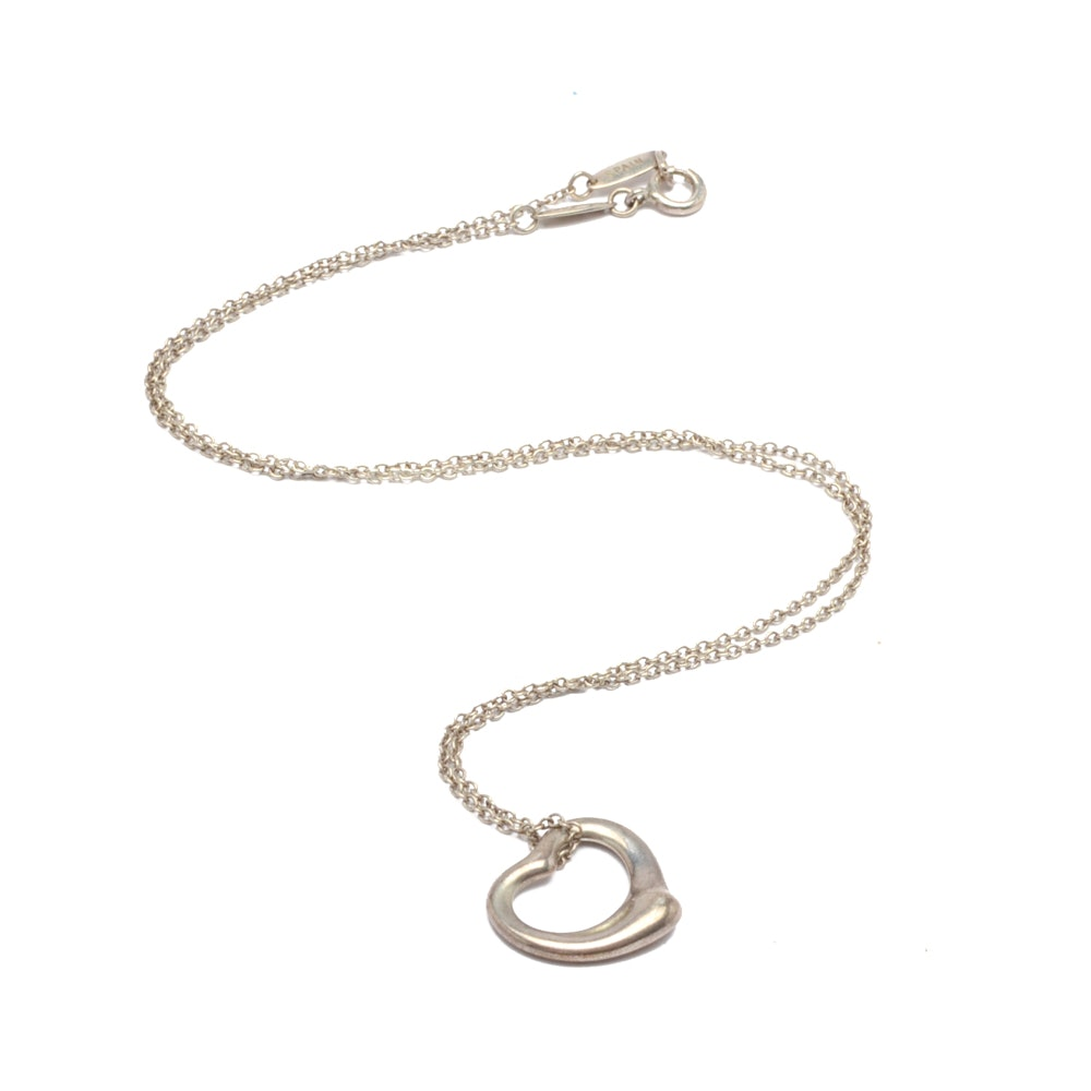 Elsa Peretti for Tiffany & Co. Sterling Silver Heart Pendant Necklace