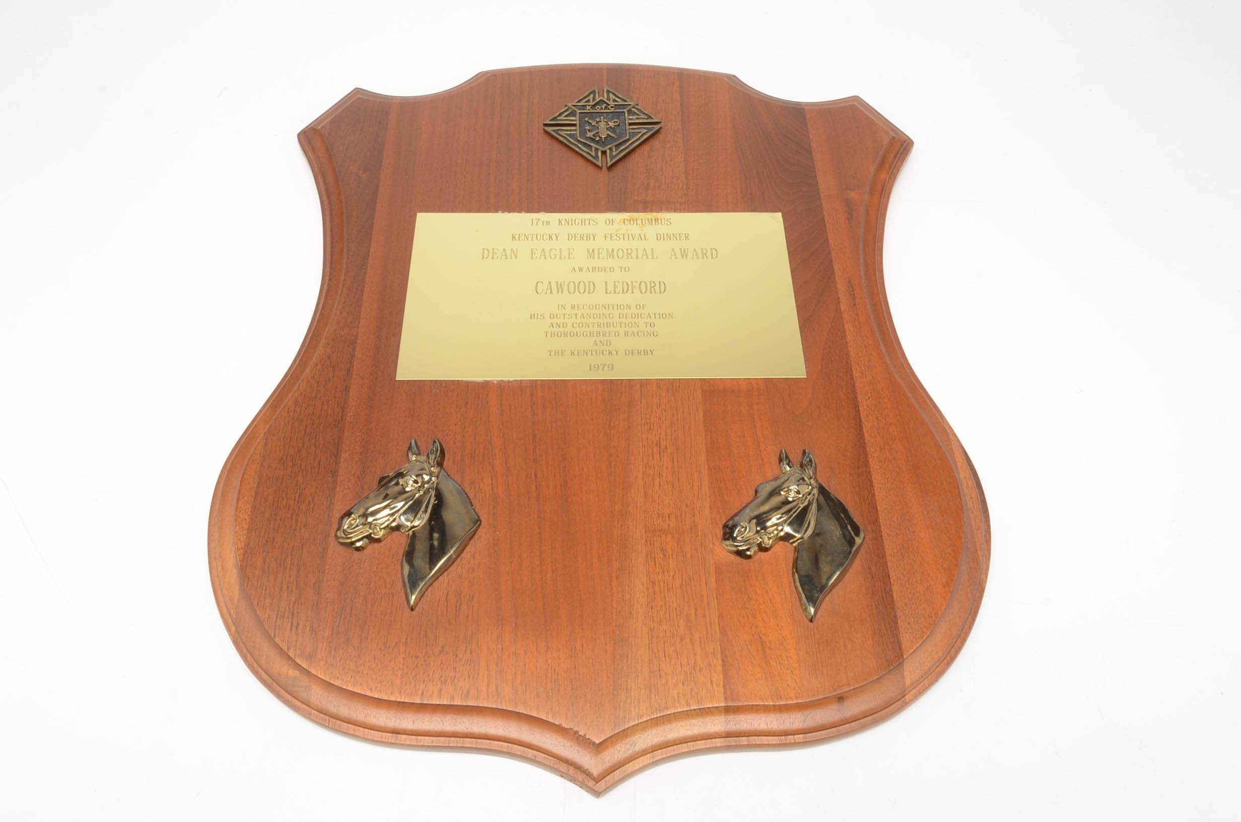 1979 Cawood Ledford Kentucky Derby Presentation Award