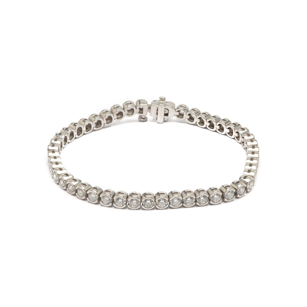 14K White Gold 4.94 CTW Diamond Bracelet