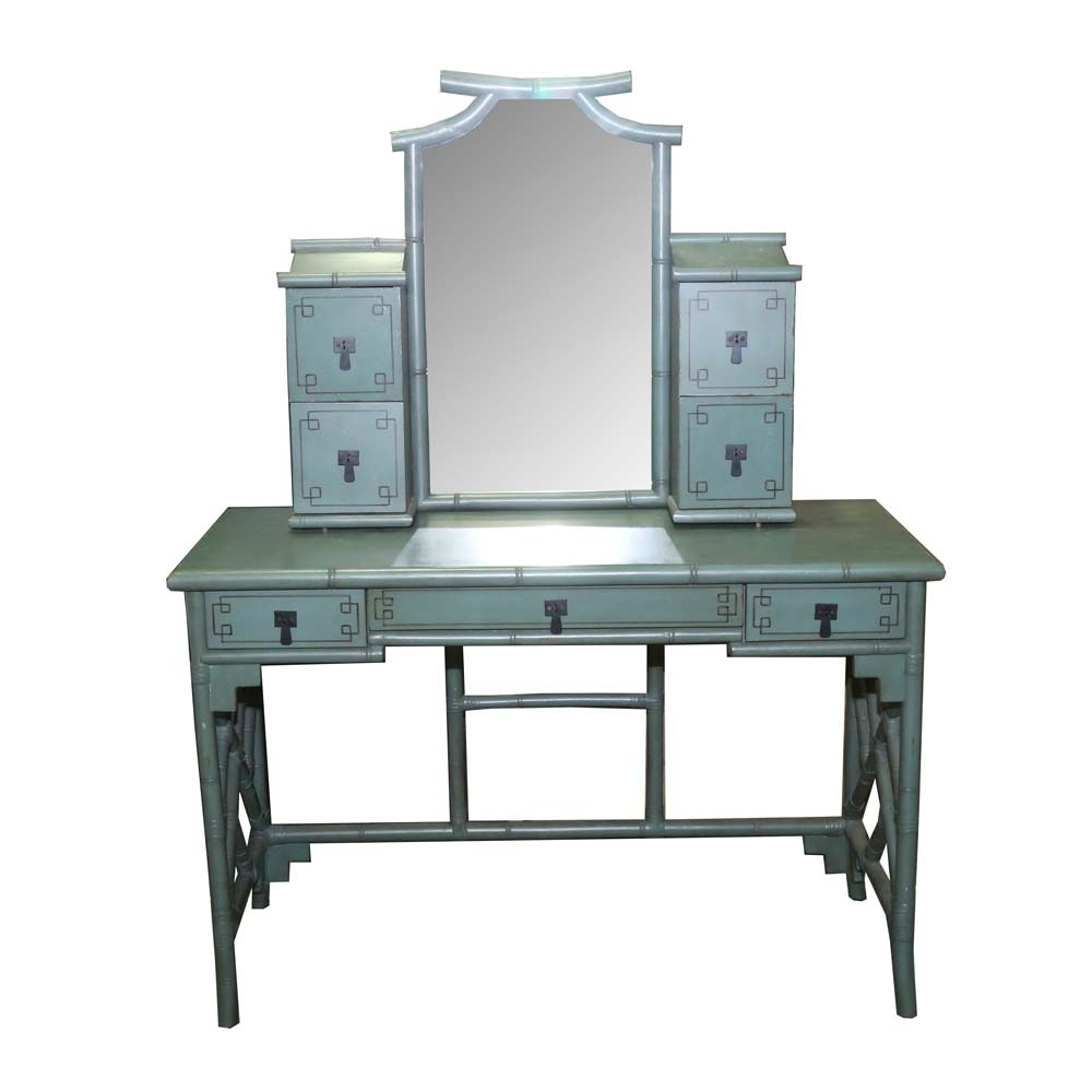 Chinoiserie Style Vanity with Mirror by Pier 1 Imports