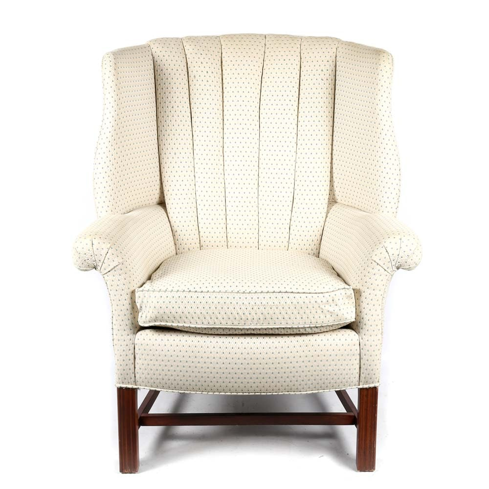 Upholstered Wingback Chair by Carr & Company