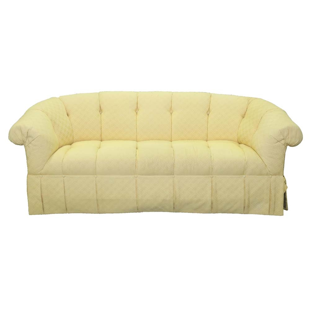 Upholstered Chesterfield Style Sofa by Carr & Company