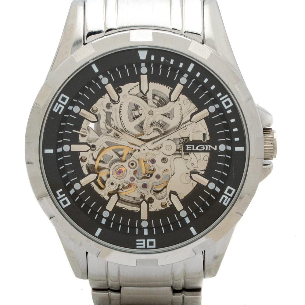 Elgin Skeleton Automatic Wristwatch