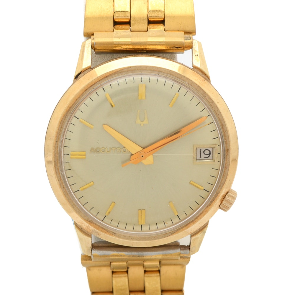 18K Yellow Gold Bulova Accutron Wristwatch