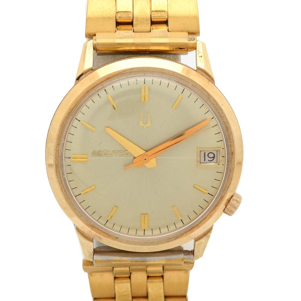 18K Yellow Gold Bulova Accutron Wristwatch